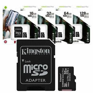 TARJETA MEMORIA MICRO SD KINGSTON  32GB 64GB 128GB Clase 10