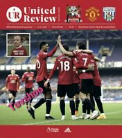 Manchester United v West Brom Bromwich Albion 21/11/20 Programme!
