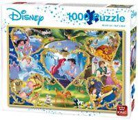 1000 Pieza Disney Puzle Rompecabezas Corazones De Oro León King Ariel Peter Pan