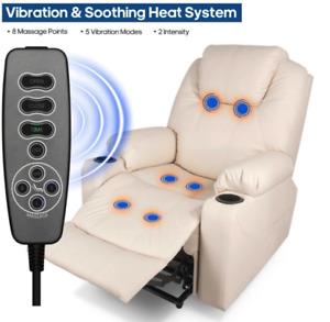 Luxury Electric Massage Chair ~ Power Lift, Soft Sofa, Furniture