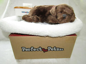 Perfect Petzzz Chocolate Lab w/ Lifelike Breathing with Bed Brush & New Battery