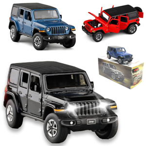 NEW 1:32 Jeep Wrangler Sahara 2020 SUV Collection Model Car Vehicles Diecast Toy
