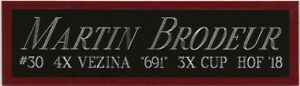 MARTIN BRODEUR NEW JERSEY DEVILS NAMEPLATE FOR AUTOGRAPHED Signed HOCKEY JERSEY
