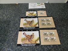 17413  CANADA-ONTARIO-WILDLIFE CONSERVATION, RUFFLED GOOSE LOT OF MISC STAMPS