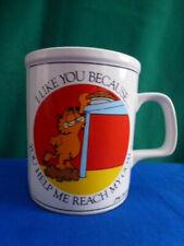 "Jim Davies ""Garfield"" Coffee/Tea Mug ""I Like You Because""  by Enesco   No.116"