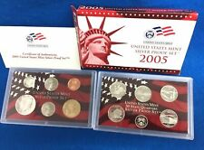 2005 Silver Proof Set U.S. Mint Box and COA 10 coins 5 State Silver Quarters