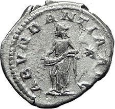 ELAGABALUS  220AD Rare Genuine Authentic Silver Roman Coin Abundantia i60489