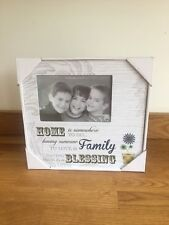 Home Blessing Art Deco Wood Photo Frame