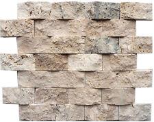 pietra rosoni incollati su rete piastrelle in marmo 28x25 con tessere 7x3,5