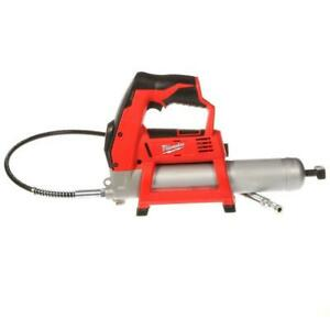 Milwaukee Grease Gun 12-Volt Lithium-Ion Cordless Hose Included (Tool-Only)