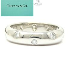 NYJEWEL Tiffany & Co Etoile Platinum Diamond Wedding Anniversary Band Ring