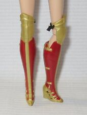 SHOES (B) ~ BARBIE DOLL WONDER WOMAN 2017 OVER THE KNEE RED & GOLD HERO BOOTS