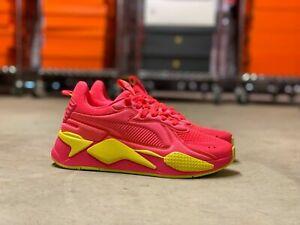 Puma RS-X Soft Case WMNS Running Shoes Pink Alert/Yellow 371983-01 NEW Multi Sz