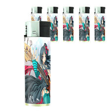 Butane Refillable Electronic Lighter Set of 5 Anime Design-005 Sexy Manga Girls