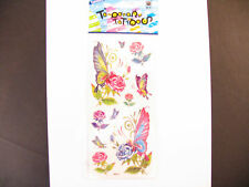 Temporary Tatto - Flower & Butterfly (7 x 3.5)