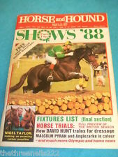 HORSE and HOUND - NIGEL TAYLOR - MARCH 10 1988