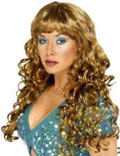 Mujer Sirenas Pop Star Rizado Peluca Para Disfraz Marrón MORENA
