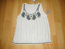 BNWT Womens Girls Nude Beaded Top Size M 12