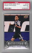 2012 Diego Fagundez UD MLS card #175 PSA 10 REVS