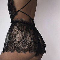 Sexy Womens Lingerie Babydoll G-String Lace Thong Nightwear Underwear Plus Size