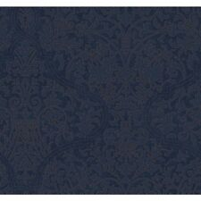 dark Blue Designer Damask Granville Wallpaper DD8353 FREE SHIPPING