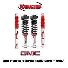Rancho Front Leveling Struts & RS9000XL Adj. Rear Shocks For 07-18 Sierra 1500