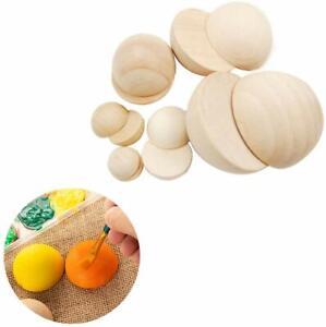 Split HardWood Balls Unfinished Half Craft Wooden Balls Mini Hemisphere DIY Arts