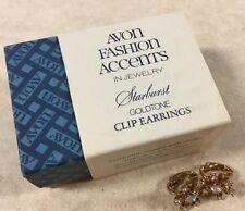 Beautiful Pair Avon Vintage Estate New In Box Starburst Earrings NV13