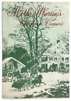1950's Vintage MOTHER WARING'S Christmas Dinner Menu FRED WARING Shawnee Inn PA
