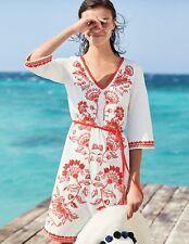 17ba4171bb3f Boden Clemmie Jersey Dress J0215 UK 18 L EU 44 US 14 Ivory / Blood Orange
