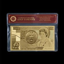 WR 1981 Edition Great Britain £50 Pound Gold Banknote UK Bank Note /w COA Frame