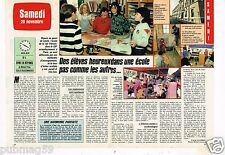 Coupure de presse Clipping 1986 (2 pages) Ecole de La Rue Vitruve  XX A Paris
