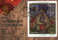 Spain Contemporary Art Stamps 2020 FDC Lucio Munoz Paintings 1v M/S