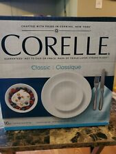 CORELLE 16 PIECE DINING SET DURABLE WINTER FROST WHITE BRAND NEW IN BOX