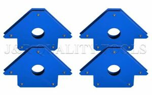 """75lb. Welding Arrow Magnet 4 pack Set 5""""inch 90 45 135 180 degree angles"""