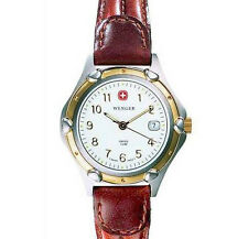 Wenger 70600 S.K.A.Standard Issue Swiss White Dial Brown Leather Band For Woman