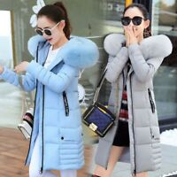 Women Winter Jacket Down Cotton Padded Ladies Parka Hooded Outwear Quilted Coat