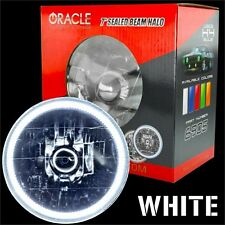"""ORACLE 7"""" Sealed Beam Headlight with ORACLE Pre-Installed White SMD Halo"""