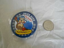 2014 Kamloops B.C.Tim Horton Brier Bear curling button pin