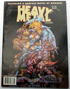 HEAVY METAL July 1998 Manara Novel