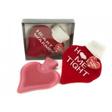 1000ml Red Heart Water Bottle With Cover 2 Assorted Designs - Shaped Hot Warmer