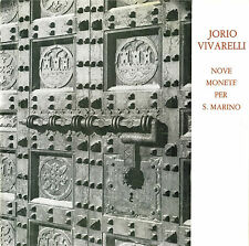 JORIO VIVARELLI. Nove monete per San Marino. Con dedica autografa. Ed. numerata
