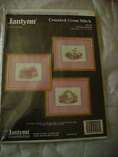 3 Counted Cross Stitch Charts - In The Garden