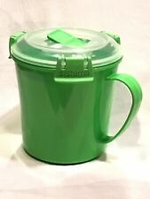 Green Quick To Go 22 Oz Soup Cup Mug Food Container BPA Free Microwave Safe (AW)