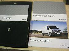 RENAULT MASTER Owners Manual Handbook pack 2013-2017 RADIO R & GO