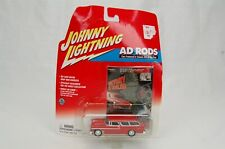 Johnny Lightning 1955 Chevy Nomad Ad Rods Red Die Cast Car