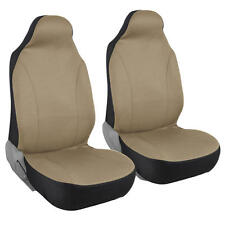 Car Seat Covers High Back Bucket Fit Mesh Polyester Pair for Front in Beige