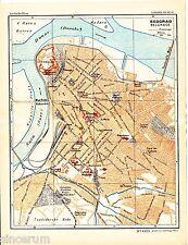Beograd Београд 1937 kl. Stadtplan + frz Reisef. (15 S.) Palais Royale Citadelle