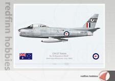 Warhead Illustrated CA-27 Sabre 75 Sqn RAAF A94-365 Aircraft Print