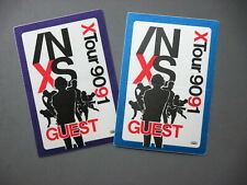 INXS satin cloth backstage passes 2 AUTHENTIC 1990/91 GUEST !